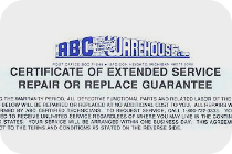 Blue Extended Service Certificate