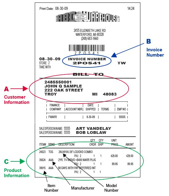 Bill of Sale Example