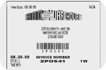 Bill of Sale / Invoice / Store Receipt